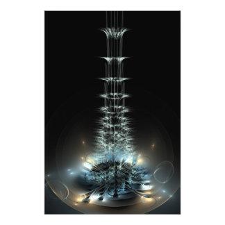 Flor del espiral de la llama del fractal fotos