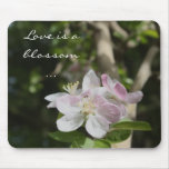 Flor del flor - saludo del amor alfombrillas de raton
