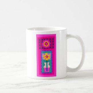 Flor del florero tazas de café