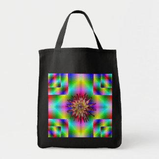 Flor del fractal bolsa tela para la compra
