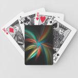 Flor del fractal cartas de juego