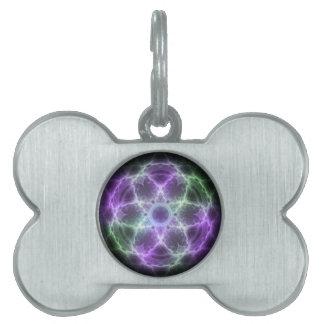 Flor del fractal de la vida - geometría sagrada placas mascota