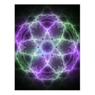 Flor del fractal de la vida - geometría sagrada postales