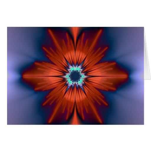 Flor del fractal tarjeta de felicitación