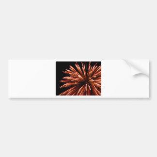 Flor del fuego artificial pegatina de parachoque