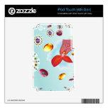 Flor del fuego skins para iPod touch 4G