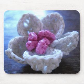 flor del ganchillo 3D con los estambres Alfombrilla De Raton