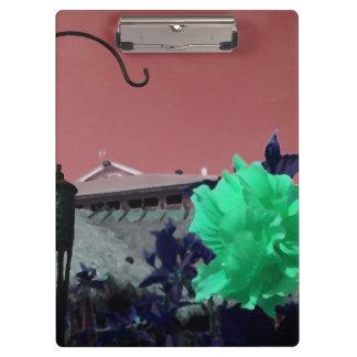 flor del gancho y del hibisco que pinta el naranja
