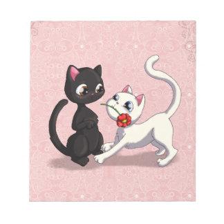 Flor del gatito blocs de notas