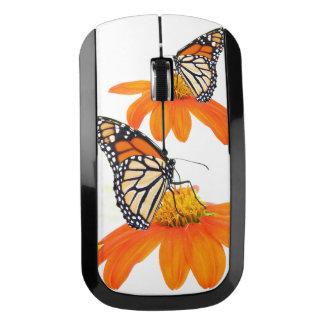 Flor del girasol de la fauna de la mariposa de ratón inalámbrico