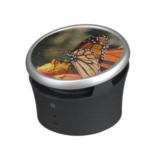 Flor del girasol de la mariposa de monarca floral altavoz con bluetooth