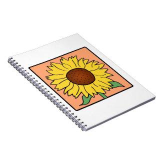 Flor del girasol del verano del jardín del clip ar cuadernos