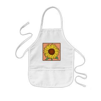 Flor del girasol del verano del jardín del clip delantal infantil