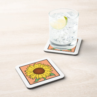 Flor del girasol del verano del jardín del clip posavasos de bebida