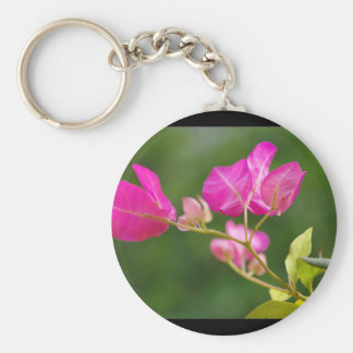 Flor del glabra del Bougainvillea Llavero Redondo Tipo Pin