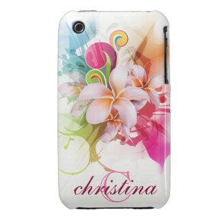 flor del Hawaiian del compañero del caso del iPhon Case-Mate iPhone 3 Cárcasas