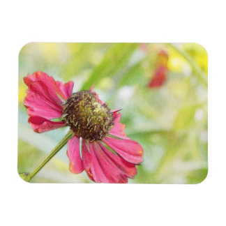 Flor del Helenium del rojo rico Imán De Vinilo