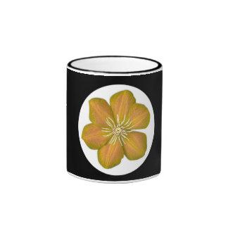 Flor del hibisco - amarillo taza de café