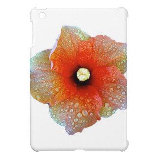 Flor del hibisco con el diamante en el centro