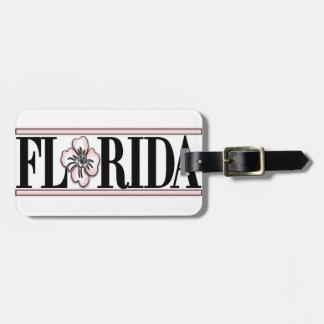 Flor del hibisco de la Florida Etiquetas De Maletas