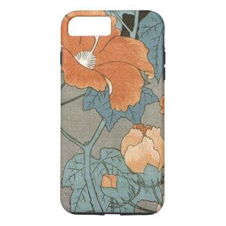 Flor del hibisco del vintage funda iPhone 7 plus