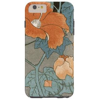 Flor del hibisco del vintage funda resistente iPhone 6 plus