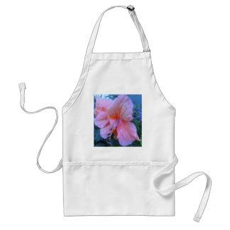 Flor del hibisco delantal