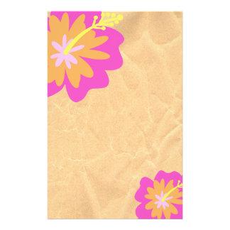 Flor del hibisco inmóvil papeleria