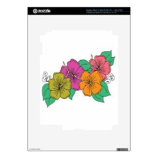 Flor del hibisco iPad 3 skins