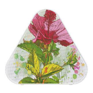 Flor del hibisco - pintura de la acuarela altavoz