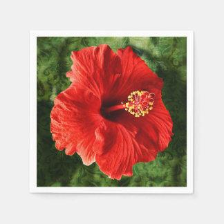 Flor del hibisco servilletas desechables