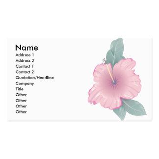 Flor del hibisco tarjetas de visita