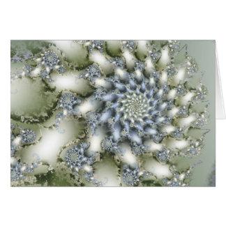 Flor del invierno con los saludos de la estación tarjeta de felicitación