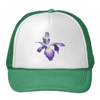 Flor del iris gorras de camionero