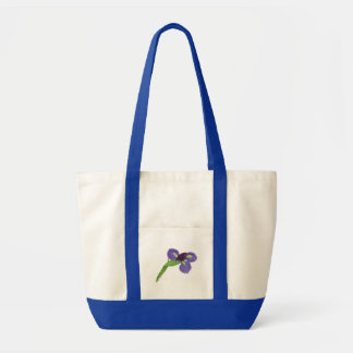 Flor del iris japonés bolsa tela impulso