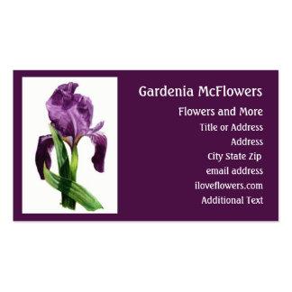 Flor del iris - tarjeta de visita floral