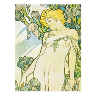 Flor del iris postales