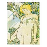 Flor del iris tarjetas postales