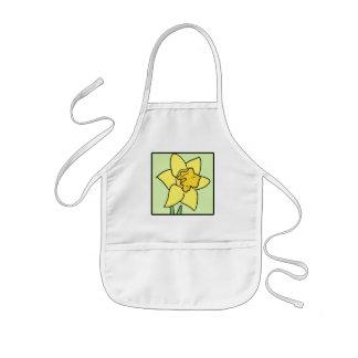 Flor del jardín de la primavera del narciso del delantal