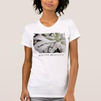 Flor del lirio blanco playera