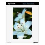 Flor del lirio blanco calcomanías para el NOOK color