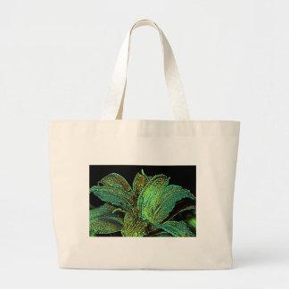 Flor del lirio con diseño de las gotas de lluvia bolsa