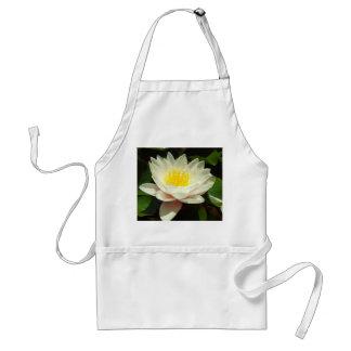 Flor del lirio de agua blanca delantal