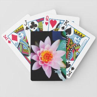 Flor del lirio de agua del loto de las rosas fuert baraja de cartas