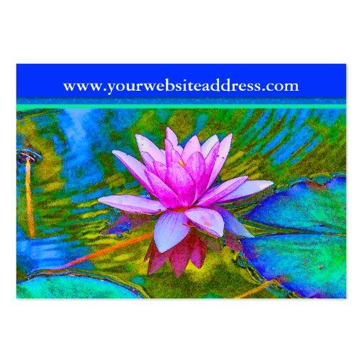 Flor del lirio de Lotus - estudio de la yoga, baln Tarjetas De Visita
