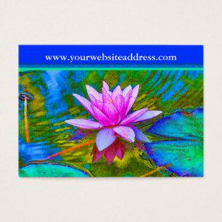 Flor del lirio de Lotus - estudio de la yoga, Tarjeta De Negocios