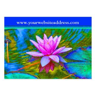 Flor del lirio de Lotus - estudio de la yoga, Tarjetas De Visita Grandes