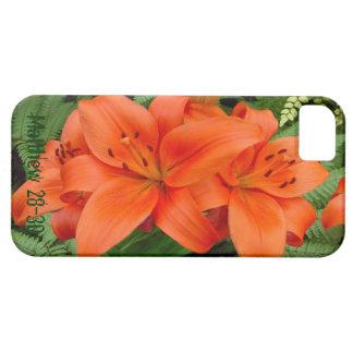 Flor del lirio - naranja iridiscente (Matt 28-30) iPhone 5 Carcasa