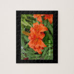 Flor del lirio - naranja iridiscente (Matt 28-30) Puzzle Con Fotos