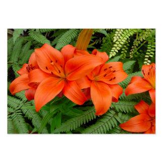 Flor del lirio - naranja iridiscente (Matt 28-30) Tarjeta De Visita